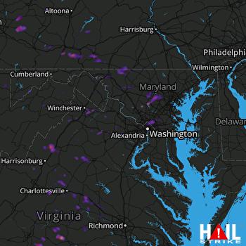 Hail Map Latrobe, PA 04-20-2017