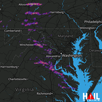 Hail Map Stafford, VA 05-30-2017