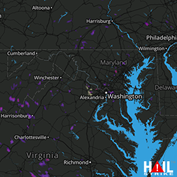 Hail Map Hyattsville, MD 07-18-2017