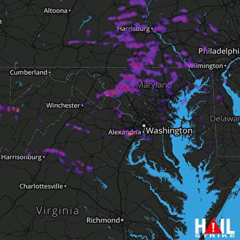 Hail Map Harrisburg, PA 05-15-2018