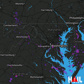 Hail Map Baltimore, MD 06-09-2018