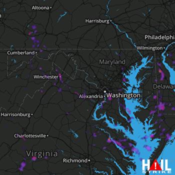 Hail Map Baltimore, MD 06-09-2018