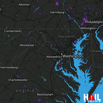 Hail Map Silver Spring, MD 08-07-2018