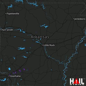 Hail Map Emmet, AR 12-01-2018