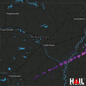 Hail Map Hernando, MS 12-01-2018