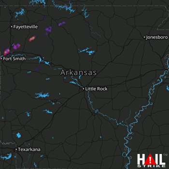Hail Map Fort Smith, AR 02-07-2019