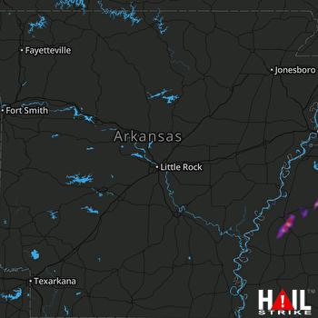 Hail Map Batesville, MS 03-14-2019
