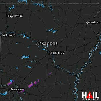Hail Map Ashdown, AR 02-10-2020