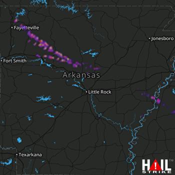 Hail Map Huntsville, AR 03-11-2020