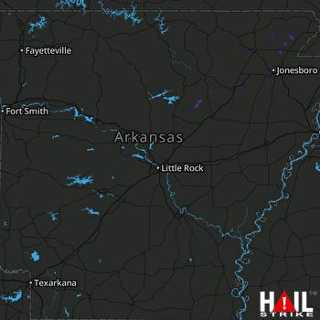 Hail Map Pangburn, AR 03-28-2020