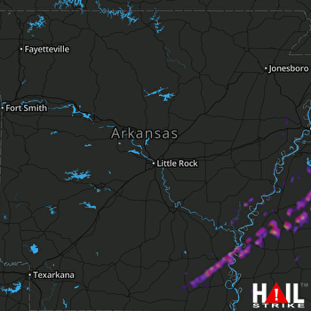 Hail Map Southaven, MS 03-29-2020