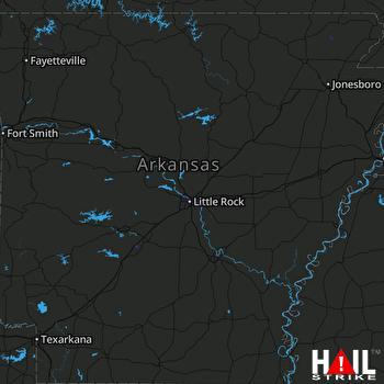 Hail Map LITTLE ROCK 06-29-2020