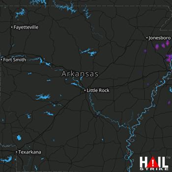 Hail Map Trumann, AR 07-06-2020