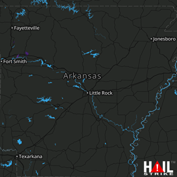 Hail Map Mulberry, AR 08-10-2020