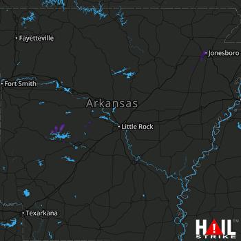 Hail Map LITTLE ROCK 09-01-2020