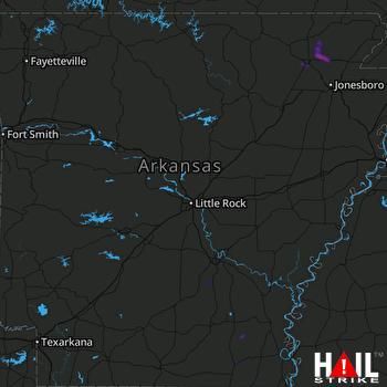 Hail Map LITTLE ROCK 09-13-2020