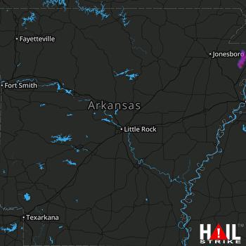 Hail Map Manila, AR 06-13-2021