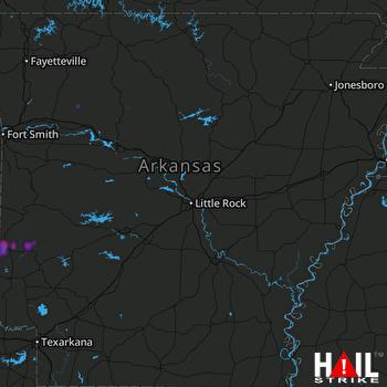 Hail Map Cove, AR 06-17-2021