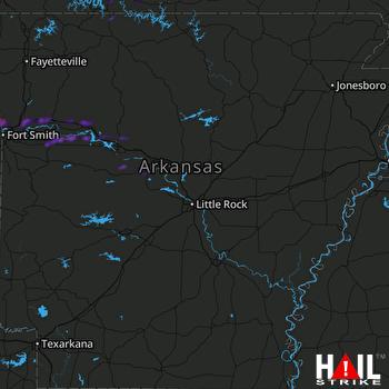 Hail Map Cedarville, AR 10-02-2021
