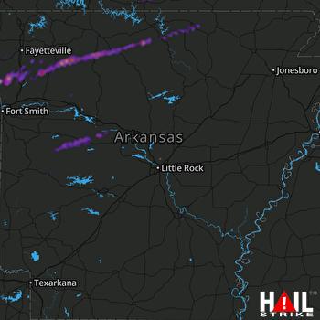 Hail Map Danville, AR 03-07-2017