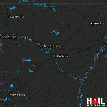 Hail Map Hackett, AR 03-27-2017