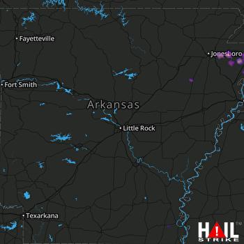 Hail Map Osceola, AR 03-27-2017