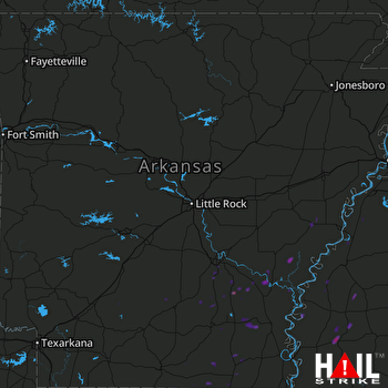 Hail Map Indianola, MS 04-18-2017