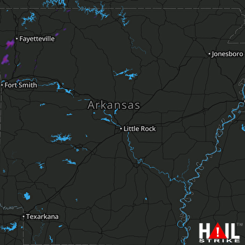 Hail Map Prairie Grove, AR 04-26-2017