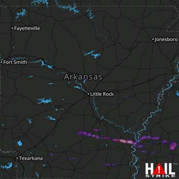 Hail Map Farmerville, LA 03-06-2018