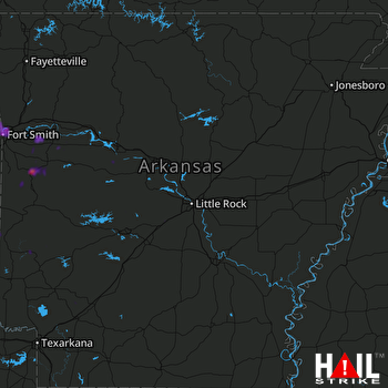 Hail Map Fort Smith, AR 05-30-2018