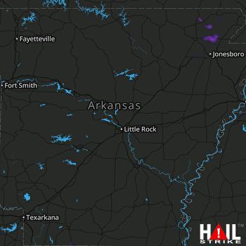 Hail Map LITTLE ROCK 06-12-2018