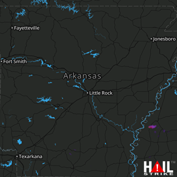 Hail Map LITTLE ROCK 06-13-2018