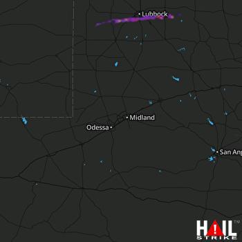 Hail Map Wolfforth, TX 03-23-2019