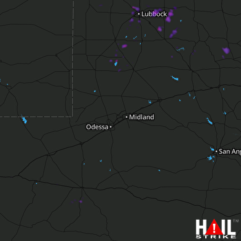 Hail Map Crosbyton, TX 09-20-2019