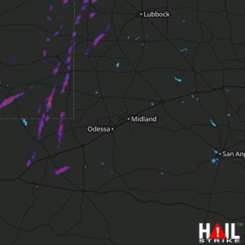 Hail Map Hobbs, NM 09-29-2019