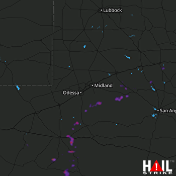 Hail Map MIDLAND/ODSSA 04-27-2020