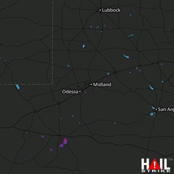 Hail Map Stanton, TX 07-24-2021
