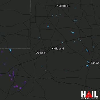 Hail Map MIDLAND/ODSSA 07-25-2021