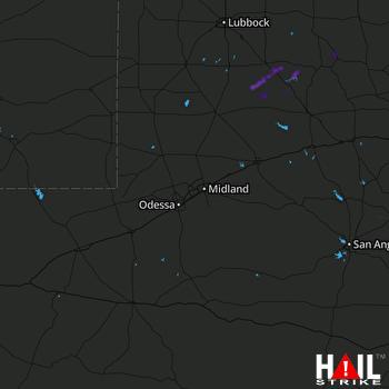 Hail Map MIDLAND/ODSSA 10-13-2021