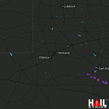 Hail Map Mertzon, TX 04-11-2017