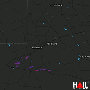 Hail Map MIDLAND/ODSSA 04-15-2017