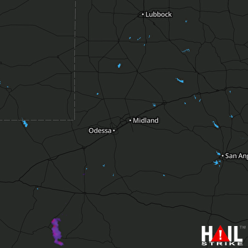 Hail Map MIDLAND/ODSSA 06-20-2017