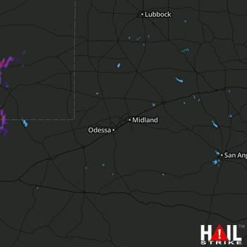 Hail Map Artesia, NM 06-27-2017
