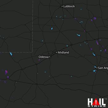 Hail Map Snyder, TX 08-15-2017