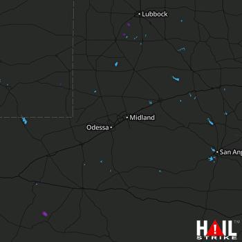 Hail Map MIDLAND/ODSSA 06-12-2018