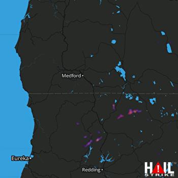 Hail Map MEDFORD 07-15-2018