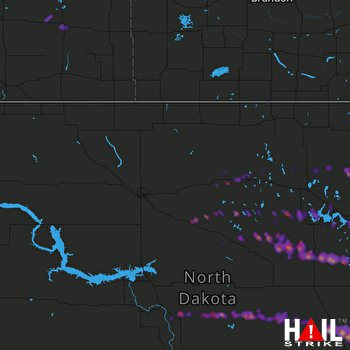 Hail Map Bismarck, ND 05-15-2019