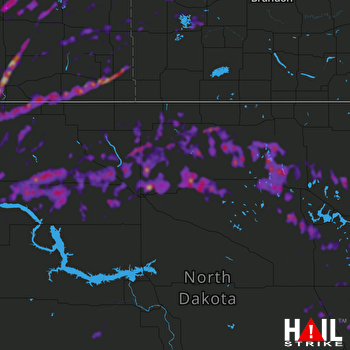 Hail Map Williston, ND 06-29-2019