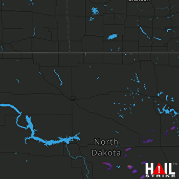 Hail Map Lakota, ND 07-28-2019