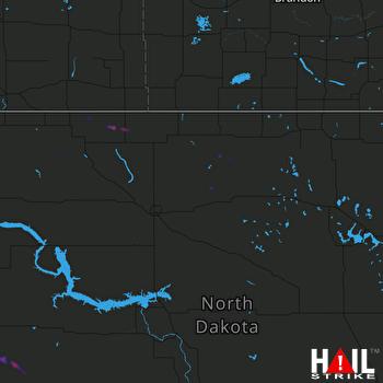 Hail Map MINOT AFB 08-20-2019